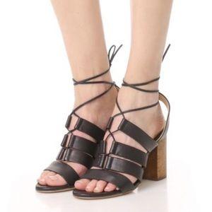 Splendid Brayden Wooden Blocked Heel Sandals